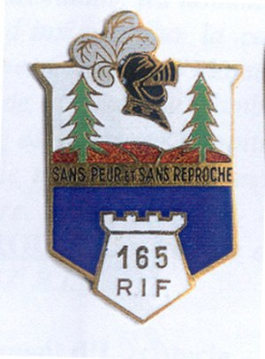 Fortified Sector of the Vosges - Image: Insigne régimentaire du 165e régiment d'infanterie de forteresse (1939)