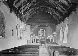 St Swithun's Church, Clunbury - Interior of Clunbury church, 1910's