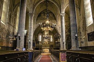 Dalhem Church - Dalhem Church interior