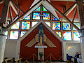 Interior of Saint Michael Archangel church in Puszcza Mariańska (brick church) - 04.jpg