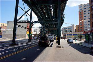 Intervale Avenue (IRT White Plains Road Line) - Underneath the station
