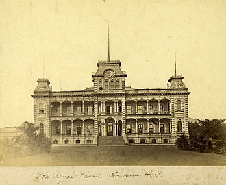 ʻIolani Palace - The palace shortly after construction