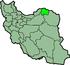 استان خراسان شمالی بر روی نقشه ایران