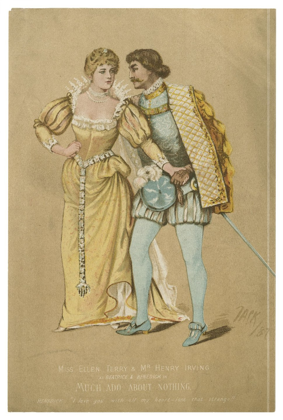 Irving and Terry as Benedick and Beatrice