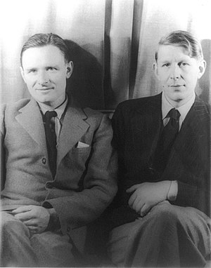 Christopher Isherwood (left) and W.H. Auden (r...