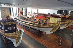 Caïque - Ottoman Imperial caïques in the Istanbul Naval Museum.