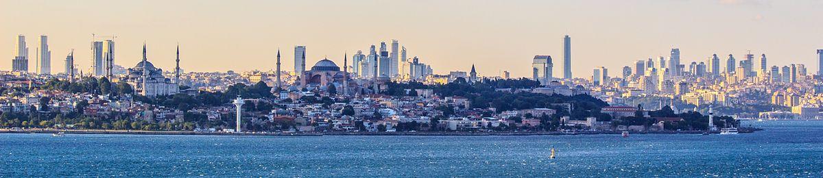 תצלום פנורמי של העיר איסטנבול (לצפייה הזיזו עם העכבר את סרגל הגלילה בתחתית התמונה)