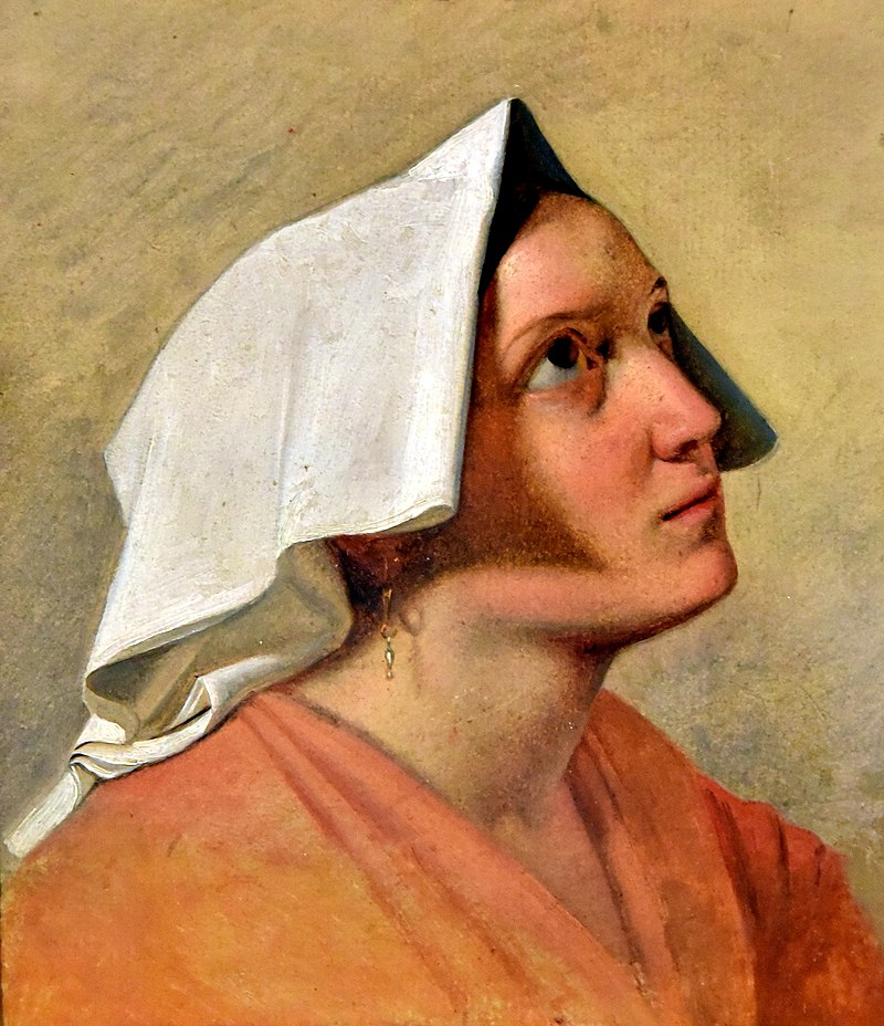 Italian Woman. Study, made 1830-1840, by August Riedel. Nationalmuseum, Stockholm, Sweden.jpg