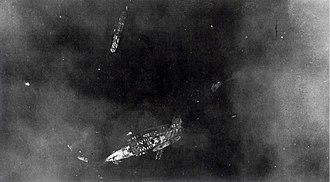 Battle of Taranto - Image: Italian ship BB L Ittorio on November 12, 1940, after Taranto attack (P00090.091)