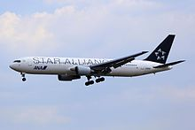 JA614A - All Nippon Airways - Boeing 767-381(ER) - Star Alliance Livery - TAO (16863543351).jpg