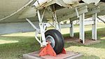 JMSDF R4D-6Q(9023) right landing gear at Kanoya Naval Air Base Museum April 29, 2017.jpg