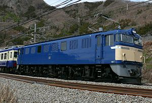 JNR Class EF60 - Sole operational EF60 (EF60 19) on an excursion working, March 2008