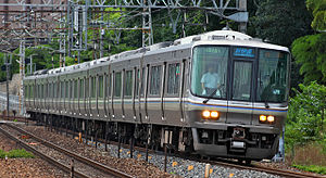 JR Kyoto Line - 223-2000 series EMU on a Special Rapid Service, July 2009