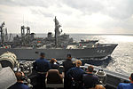 JS Hamana (AOE-424) replenishes USS McCampbell (DDG-85) and JS Ariake (DD-109) in the Pacific, -13 Nov. 2012 a.jpg