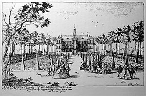 Jægersborg - Jægersborg in 1747, engraving by B. de La Rocque