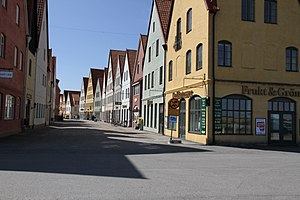 New Classical architecture - New urbanist, sustainable town Jakriborg (Sweden), using traditional and classical architecture motifs.