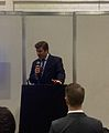 James Heappey addressing the National Flood Expo 2015.jpg