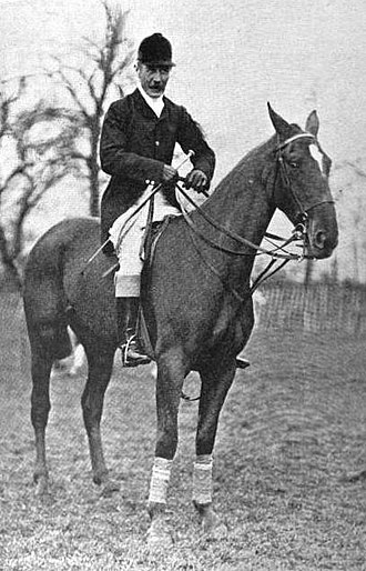 James Tomkinson - Tomkinson at the House of Commons Steeplechase in a photograph taken shortly before his death from a fall.