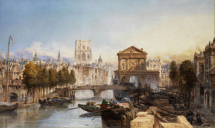 A painting of Rotterdam in 1895, before the Blitz destroyed the historic city centre James Webb Vedute von Rotterdam.jpg