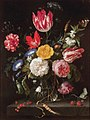 Jan Davidsz. de Heem - Glass Vase with Flowers on a Stone Ledge.jpg