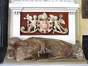 Jakub Uchański - Tomb effigy of Polish primate Jakub Uchański in Łowicz cathedral 1580