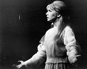 Jane Asher - Asher as Juliet when the Bristol Old Vic made a US tour in 1967
