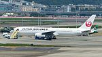 Japan Airlines Boeing 767-346ER JA654J at Taipei Songshan Aiport Apron 20160924a.jpg
