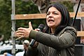 Jasmin Tabatabai bei einer Demo für die Schließung Tegels (49064697888).jpg