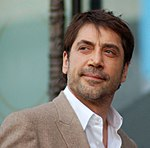 Photo o Javier Bardem at the unveilin ceremony o for his starn on the Hollywood Walk of Fame in 2012.