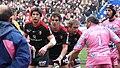 Jean BOUILHOU, Gregory LAMBOLEY, Romain MILLO-CHLUSKI, Pierre RABADAN, Stade français vs Stade toulousain, 6 mars 2010.jpg