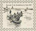 Jean Bertrand Pegot-Ogier, Souvenir des inondations de Paris 1910.jpg