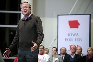 Jeb Bush presidential campaign, 2016 - Jeb Bush speaking at a town hall campaign event in Ankeny, Iowa.