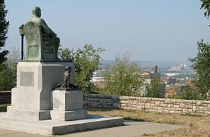 James Pendergast - Statue of Jim Pendergast on Quality Hill overlooking the West Bottoms