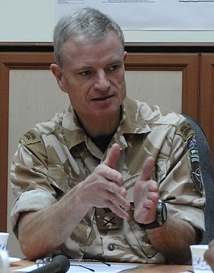 James Dutton (Royal Marines officer) - Dutton during a briefing in Afghanistan in February 2009