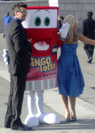 Joe Pasquale - Pasquale (left) at the BingoLotto launch