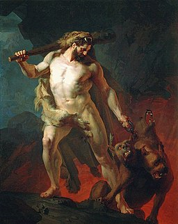 Johann Köler - Hercules Removes Cerberus from the Gates of Hell, 1855