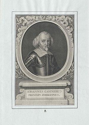 John Casimir, Prince of Anhalt-Dessau - Image: Johann Kasimir Fürst Anhalt Dessau