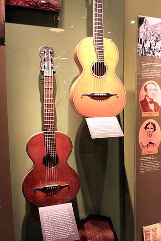 C. F. Martin & Company - Image: Johann Stauffer Terz Guitar (c.1820 1830), Vienna Stauffer style guitar by C. F. Martin, Sr. (1834 1835) C.F. Martin Guitar Factory 2012 08 06 004 (clip)