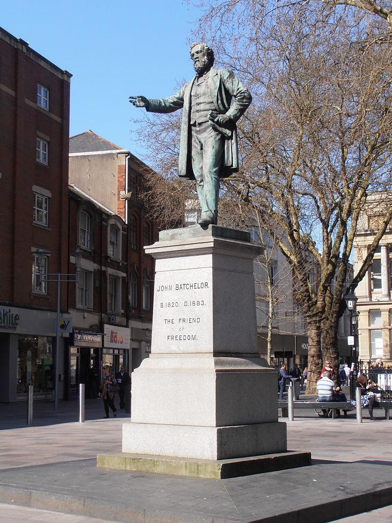 John Batchelor statue, The Hayes, Cardiff.JPG