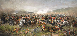 2nd Dragoon Guards (Queen's Bays) - The Battle of Aughrim where the regiment crossed a bog under a heavy fire in July 1691