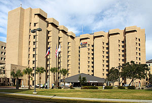 John Sealy Hospital on the campus of the Unive...