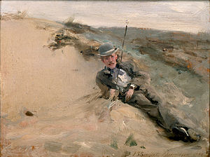 High Museum of Art - John Singer Sargent, Ralph Curtis on the Beach in Scheveningen, 1880
