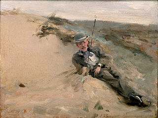 Portrait of Ralph Curtis on the Beach at Scheveningen
