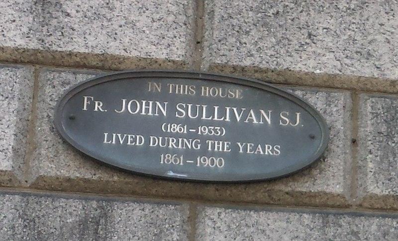 File:John Sullivan SJ (1861-1933) (here-lived plaque).jpg