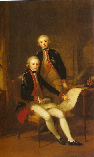 William I of the Netherlands - Young William and his brother Frederick in 1790