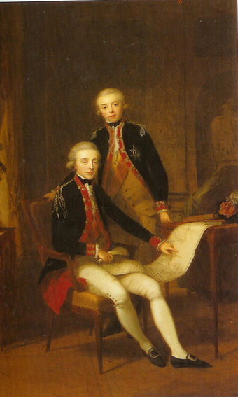 Young William and his brother Frederick in 1790 JongeWillemImetbroerFrederik.jpg