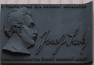 Josef Suk (composer) - Memorial plaque