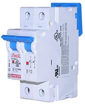 Circuit breaker - A two-pole miniature circuit breaker