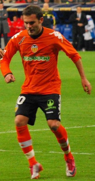 Juan Mata - Juan Mata playing for Valencia in 2010