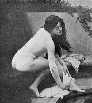 Jules Scalbert - Bathing, 1907.